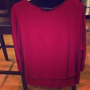 Zara red long sleeved blouse-size small